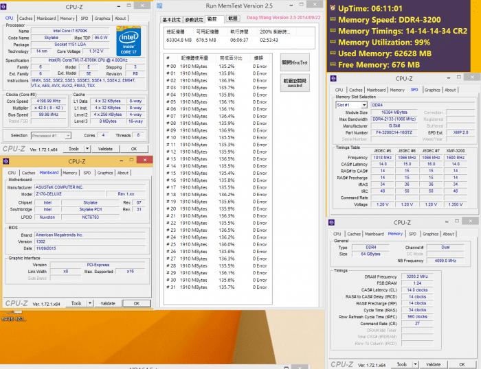 DDR4 3200MHz CL14 16GB (2x8GB) 1.35V kit validado con Intel Core i7-6700K CPU y ASUS Z170.