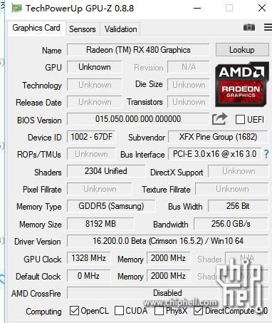 Más información acerca de la tarjeta de AMD.